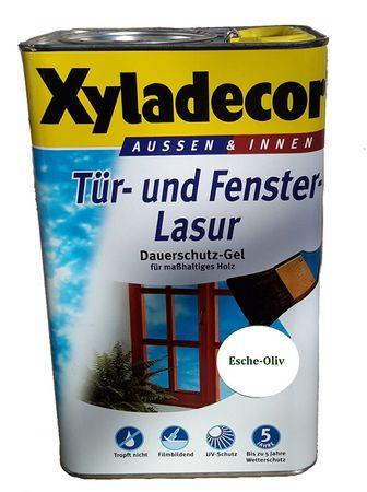 Xyladecor Tür- und Fensterlasur, Dauerschutzgel, Esche/Oliv 10 Liter