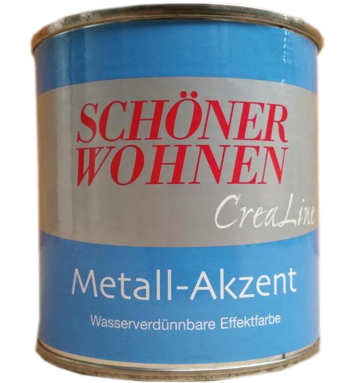 Schöner Wohnen Crealina Metall-Akzent Effekt farbe 9503 Bronze 750 ml