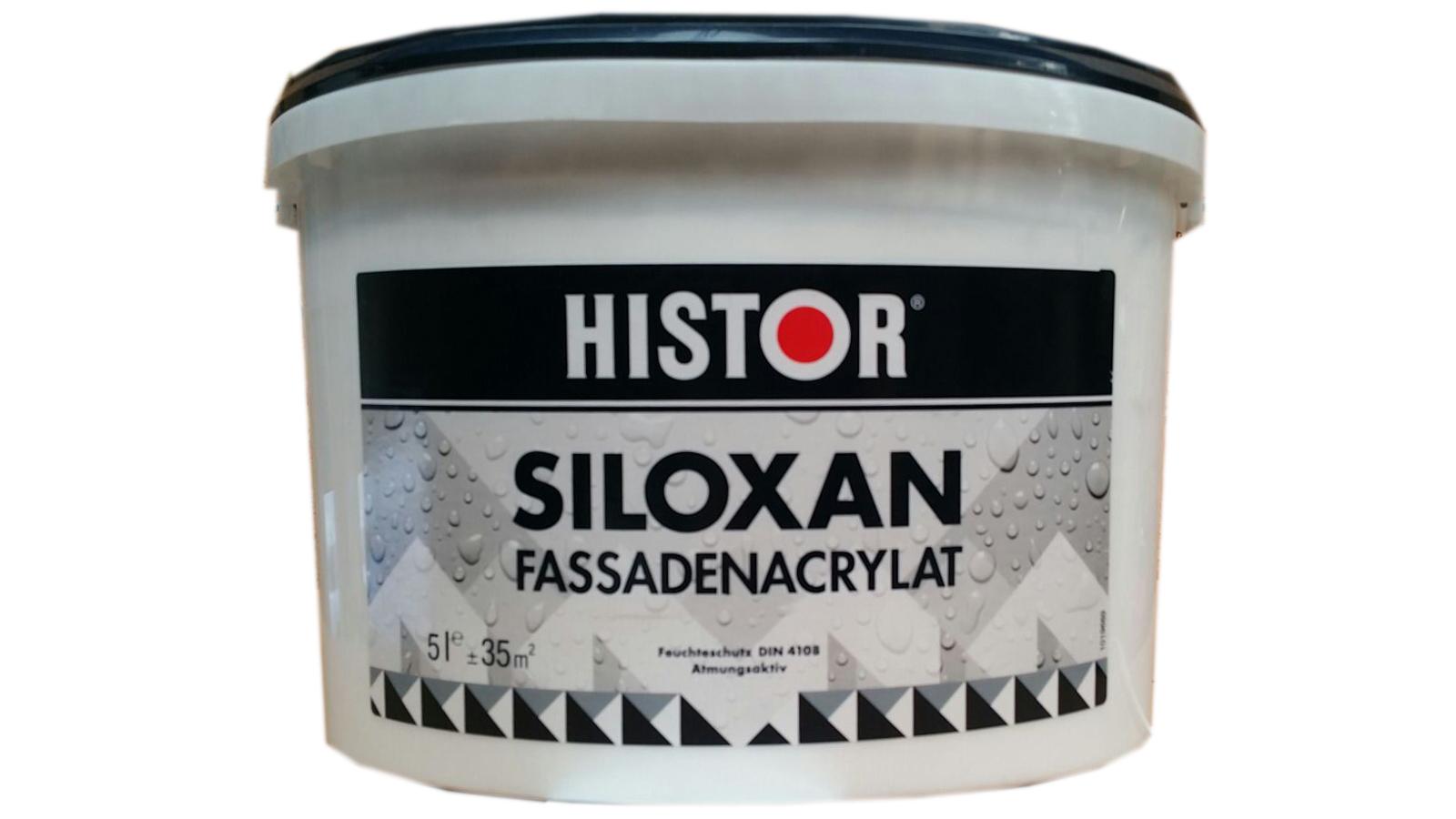 Histor SILOXAN Fassadenacrylat Fassadenfarbe Weiß TuchMatte 2,5 Liter