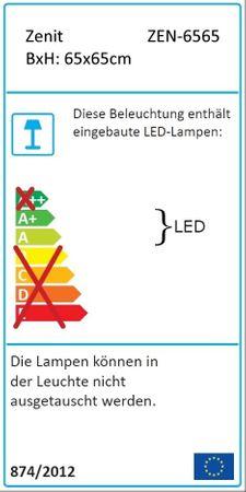 Badezimmer Backlight LED Spiegel 65x65 cm mit Holz-Rahmen   Leuchtspiegel 21 Watt – Bild 3