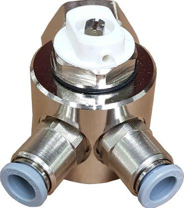 Jollytherm 10110 Aquaheat Verteiler 2-fach für Doppelrohr Warmwasser Fußbodenheizung – Bild 1