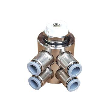 Jollytherm 10111 Aquaheat Verteiler 4-fach für Doppelrohr Warmwasser Fußbodenheizung – Bild 1