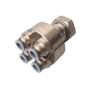 HoWaTech Metall Verteiler (für 8mm-Rohr) 4-fach