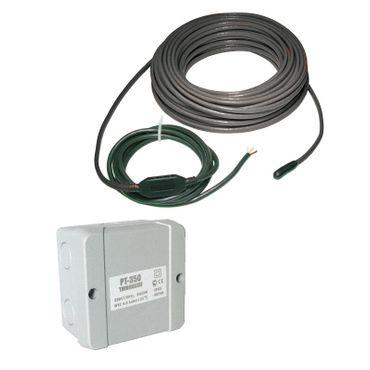 Elektrische Dachrinnenheizung mit Thermostat | Frostschutz 20 W/m | zum Schutz vor Frostschäden – Bild 1