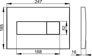 AlcaPlast Betätigungsplatte | Drückerplatte für WC Spülkasten | Serie M37 – Bild 3