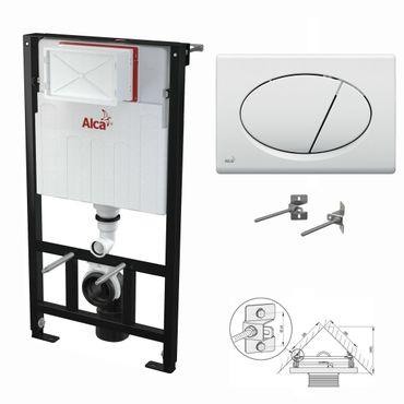 WC Montageelement zur Eckmontage mit Betätigungsplatte (Serie M7) – Bild 9