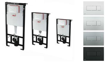 AlcaPlast WC Montageelement zur Wandmontage mit Betätigungsplatte (Serie M37)