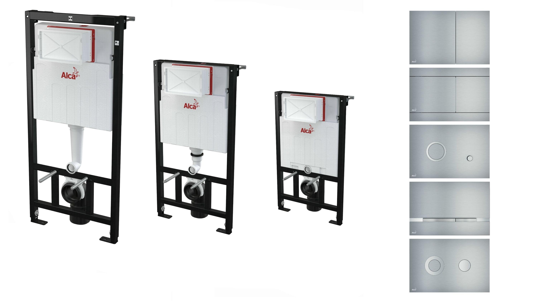 wc vorwand montagerahmen unterputz sp lkasten dr ckerplatte alu 85 100 120 ebay. Black Bedroom Furniture Sets. Home Design Ideas