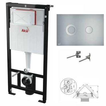 WC Montageelement zur Eckmontage mit Designer-Betätigungsplatte (Serie Flat) – Bild 10