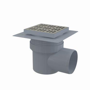 Bodenablauf Duschablauf mit Siphon DN110 Edelstahlrost 150x150mm – Bild 2