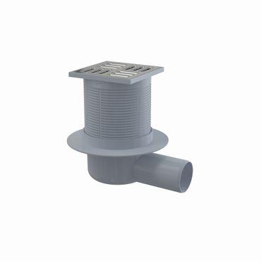 AlcaPlast APV Bodenablauf mit Kombisiphon | Duschablauf Edelstahlrost 105x105mm – Bild 2