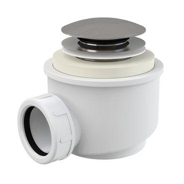 AlcaPlast A465 Ablaufgarnitur Duschablauf mit Siphon | Abdeckung ø70mm CLICK/CLACK – Bild 1
