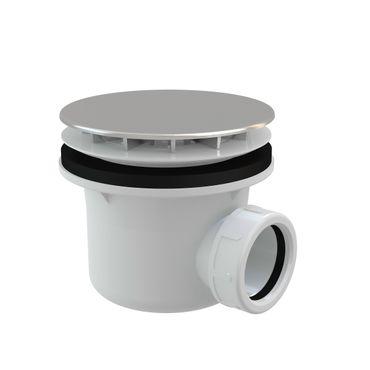 Ablaufgarnitur Duschablauf mit Siphon ø85-90mm Ablaufbohrung Abdeckung verchromt ø116mm – Bild 1