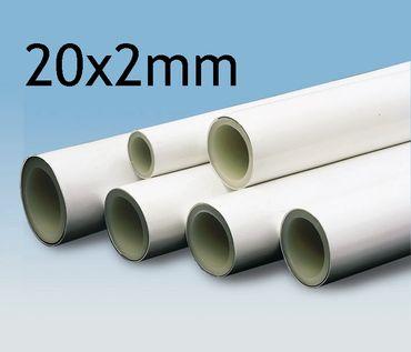 2,5 Meter Verbundrohr 20x2 mm | Aluminium Mehrschicht | für Heizung und Sanitär