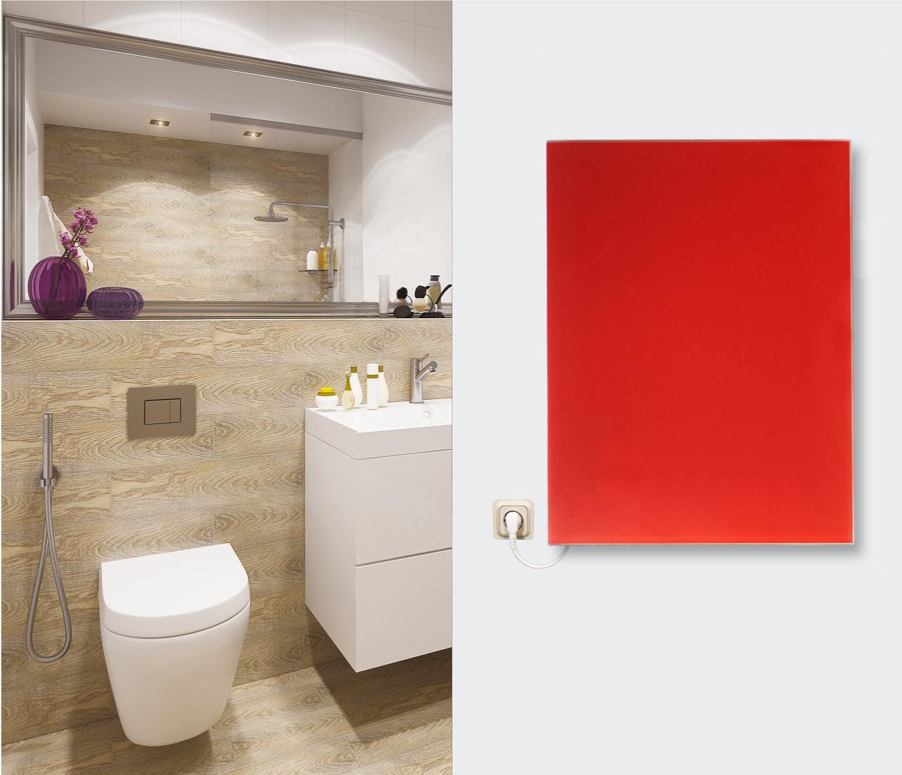 infrarot glasheizk rper wand heizpaneele 50x50 350w viele. Black Bedroom Furniture Sets. Home Design Ideas