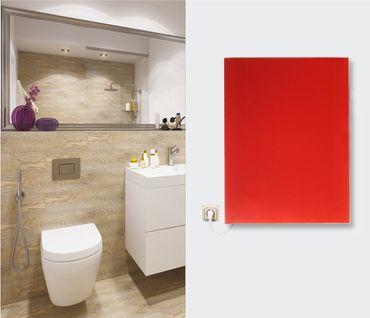 Infrarot Glasheizkörper Wand Heizpaneele 50x50 350W viele Farben und als Spiegel – Bild 1