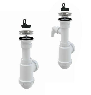 """Spülbecken Ablaufgarnitur 1,5"""" mit Ablaufventil 50-55mm und Siphon – Bild 1"""