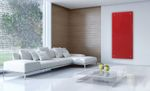 Infrarot Glasheizkörper Wand Heizpaneele 45x120 850W viele Farben und als Spiegel 001