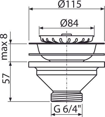 AlcaPlast Röhrensiphon DN 40 50 | Geruchsverschluss mit Ablaufventil | Küche Spüle – Bild 19