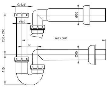 Röhrensiphon mit Ablaufventil – Bild 14