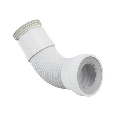 AlcaPlast A970 WC Flex-Anschlußstutzen für Rosette Universal | 280-550mm weiß ø80-110/ø100-120mm