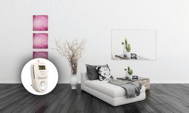 HoWaTech Infrarot Glasheizkörper 60x80cm 600W Heizpaneel mit Steckdosenthermostat – Bild 14