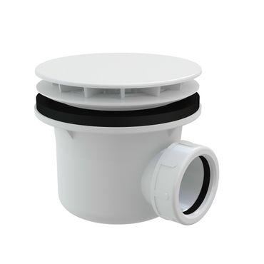AlcaPlast A49B Ablaufgarnitur Duschablauf | ø85-90mm Ablaufbohrung | Abdeckung weiß ø116mm – Bild 1