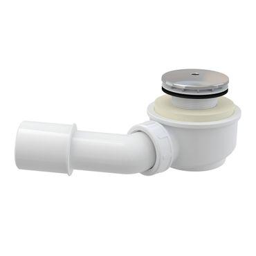 extra flache Ablaufgarnitur Duschablauf mit Siphon für ø50-52mm Ablaufbohrung