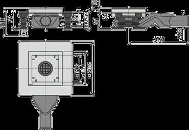 Edelstahl Bodenablauf / Duschablauf (extrem flach 61mm) inkl. Edelstahlrost – Bild 3