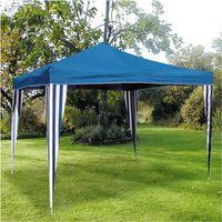 Ruck-Zuck-Pavillon 3x3m Blau Partyzelt Gartenzelt Bierzelt Gartenpavillon Neu 001