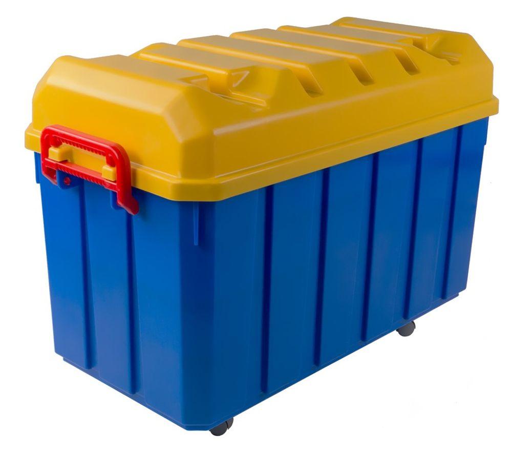 150 Liter Jumbo Rollenbox Aufbewahrungsbox Rollkiste Allzweckbox Kiste Deckel – Bild 1
