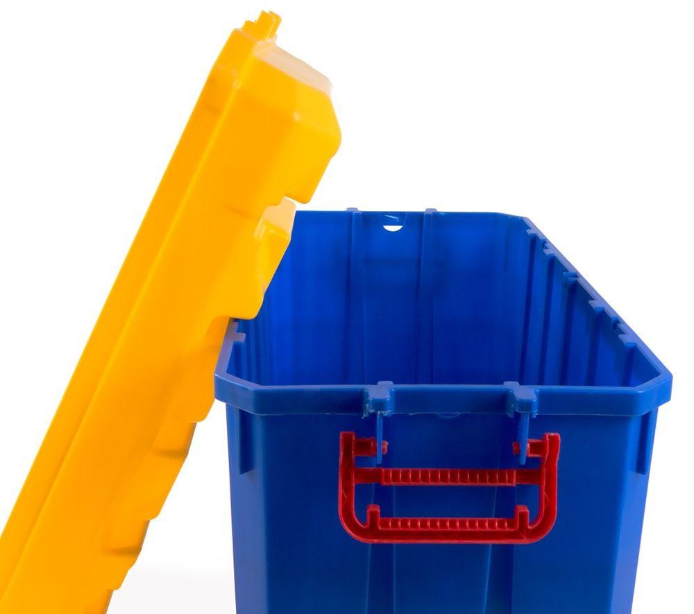 150 Liter Jumbo Rollenbox Aufbewahrungsbox Rollkiste Allzweckbox Kiste Deckel – Bild 3