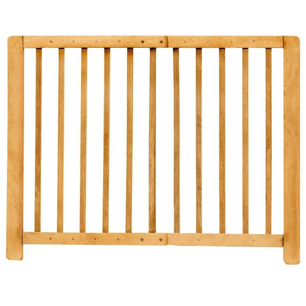 Kinder-Sicherheitsgitter Treppengitter Türschutzgitter Absperrgitter Holz natur – Bild 1