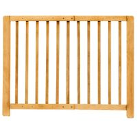 Kinder-Sicherheitsgitter Treppengitter Türschutzgitter Absperrgitter Holz natur 001