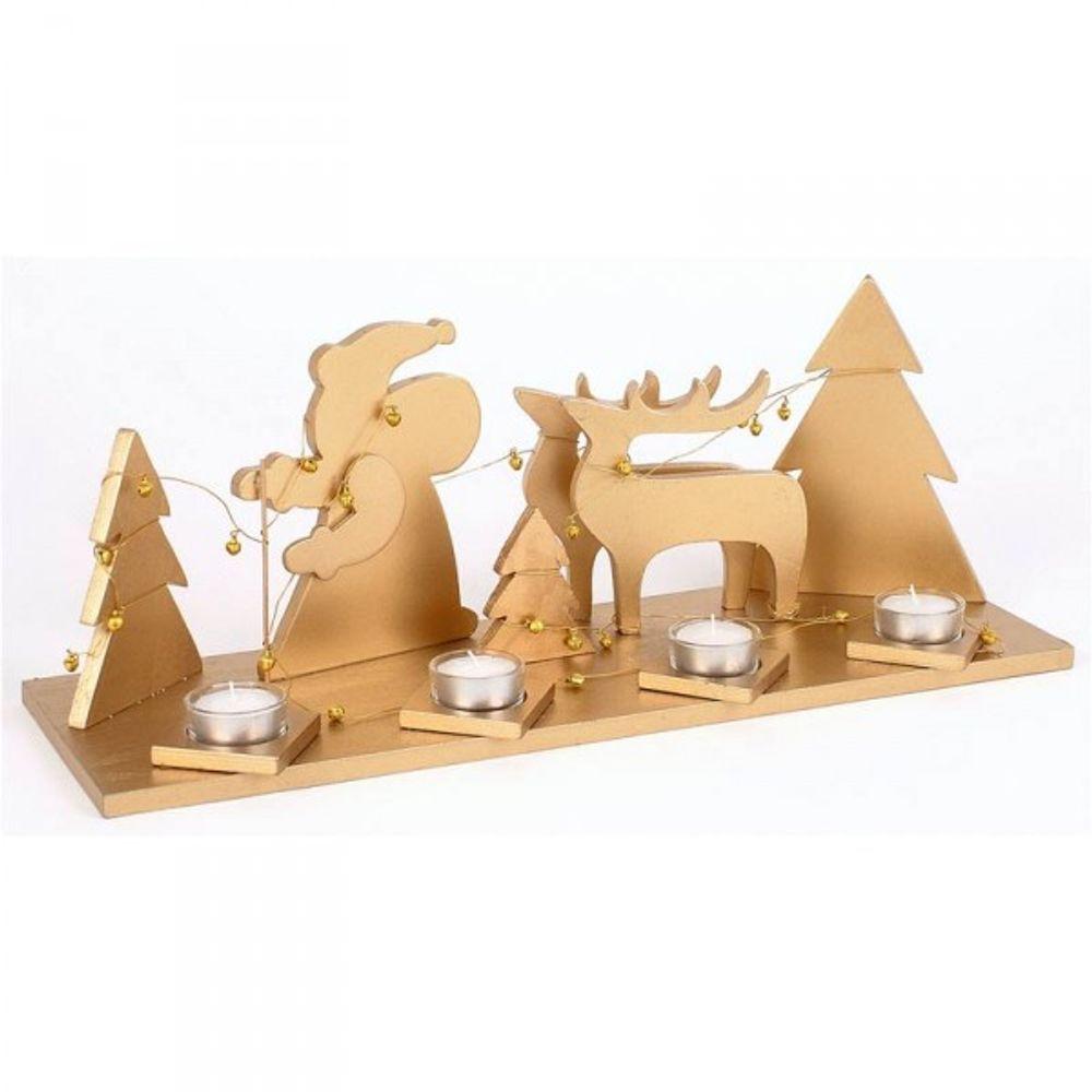 Holz Teelichthalter