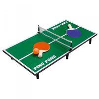 Mini Tischtennisplatte 60x7x30cm Tischtennis Minitennis Netz Schläger Tennisball 001