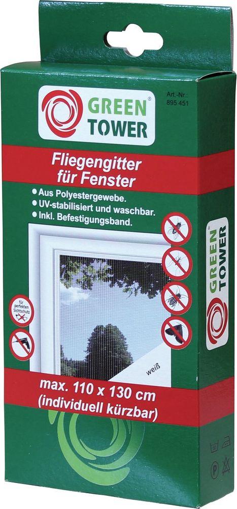 GREEN TOWER FLIEGENGITTER 110x130 Weiss Fenst.