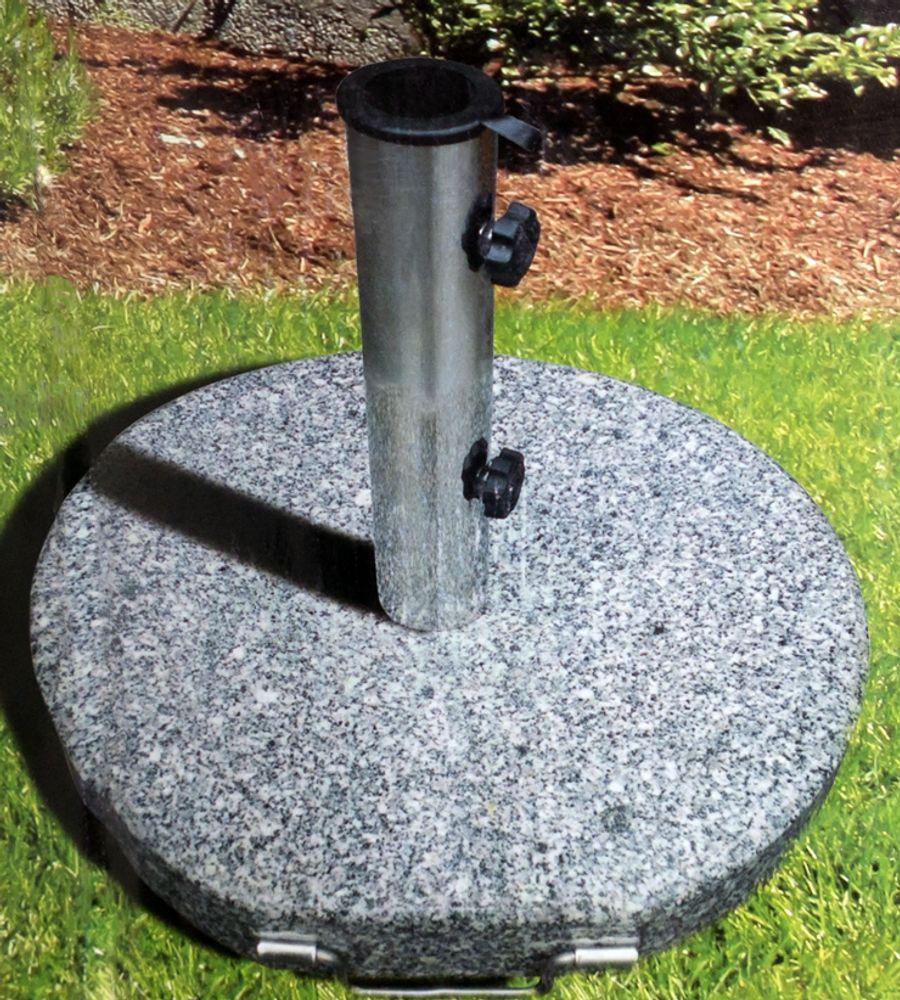 Granit Sonnenschirmständer 30kg Ø45cm Schirmfuß Schirmständer Schirmhalter  – Bild 1