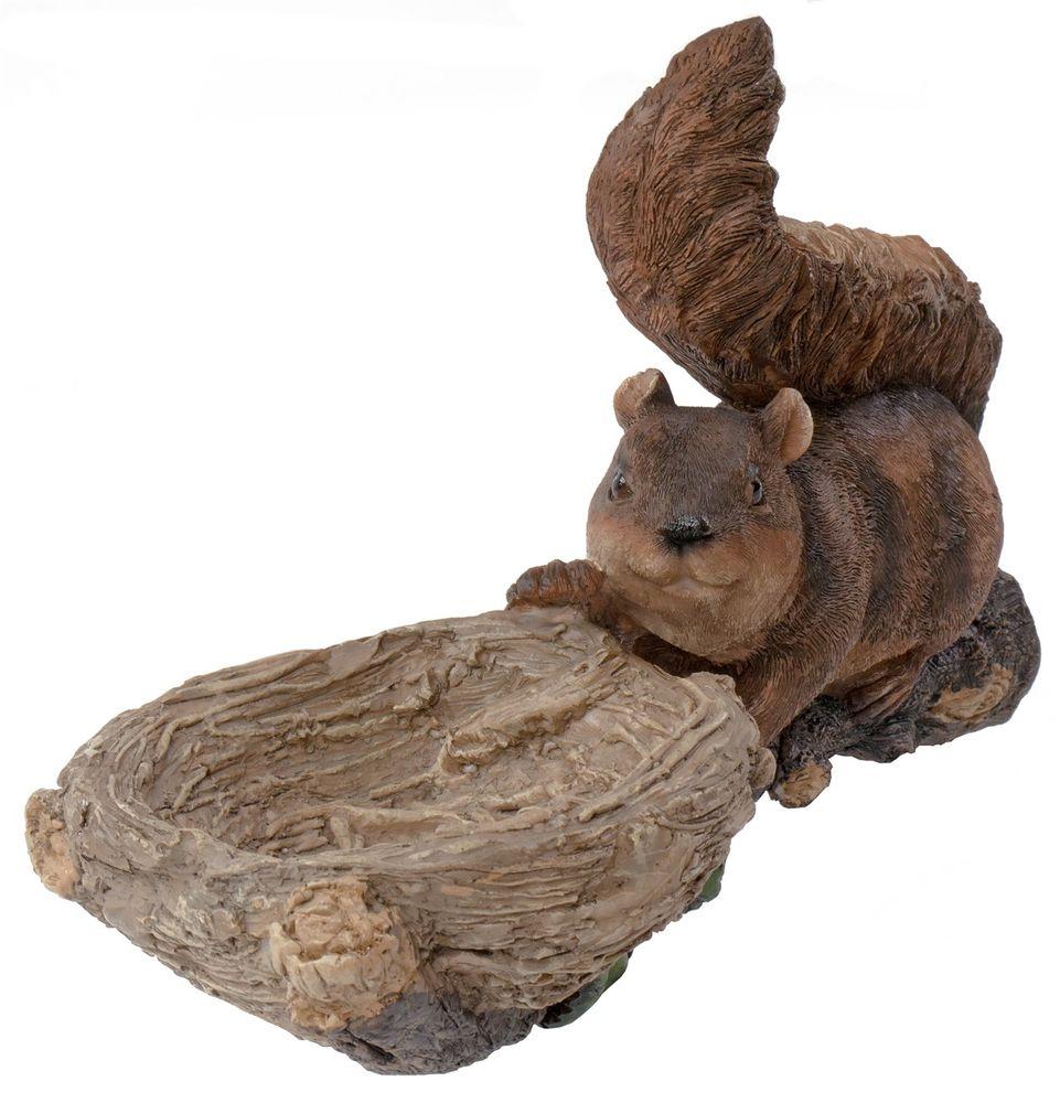 Baumfigur auf Ast Gartendeko Vogelfutterstation Tränke Troll Eichhörnchen Gnom – Bild 4