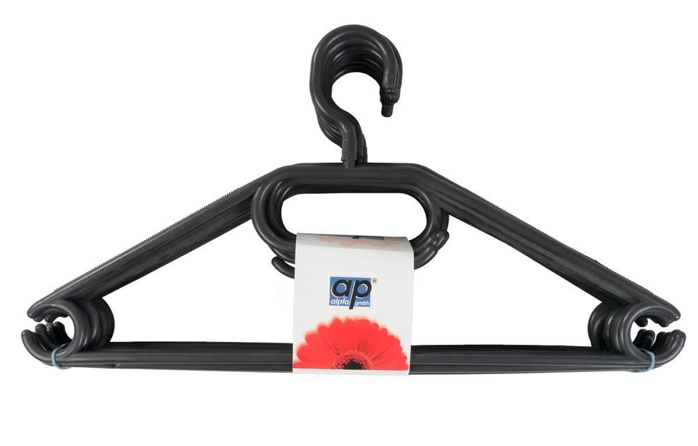 10 Kleiderbügel schwarz Aufbewahrung Wäschebügel Hosenbügel Krawatte Jacke