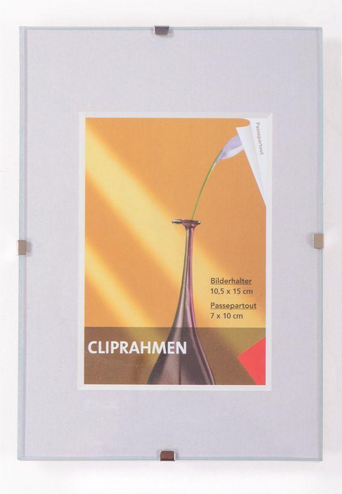 Rahmenloser Bilderrahmen 10x15cm Bilderhalter Fotorahmen Fotohalter Rahmen Bild
