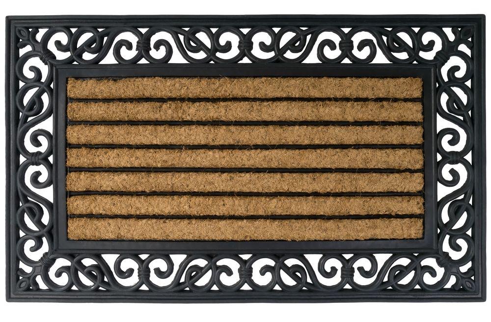 Relief Gummimatte mit Kokoseinlage 75x45cm Türvorleger Fußmatte Fußabtreter