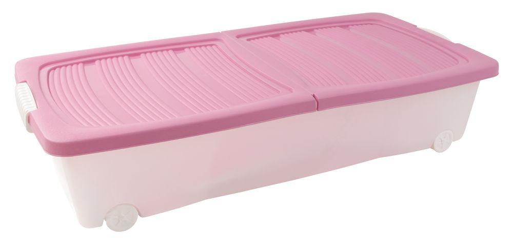 Rollenbox + Klappdeckel Unterbettbox Aufbewahrungsbox Spielzeugkiste Allzweckbox – Bild 2