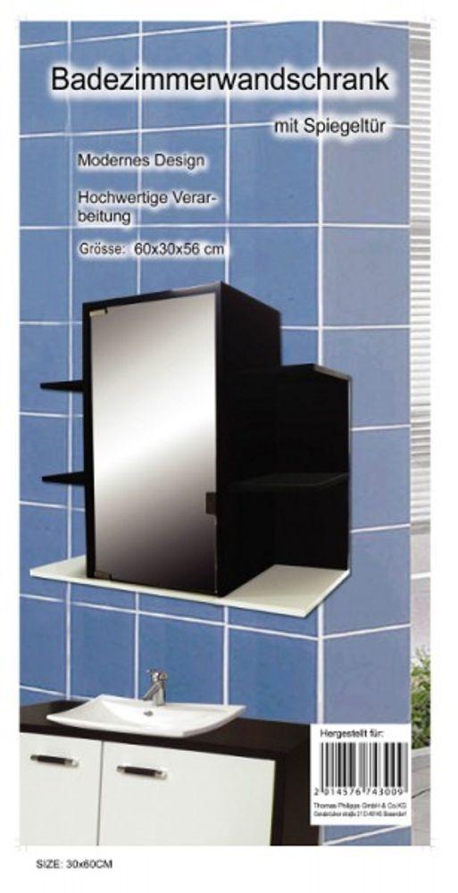 Badezimmer-Wandschrank mit Spiegeltür 60x30x56