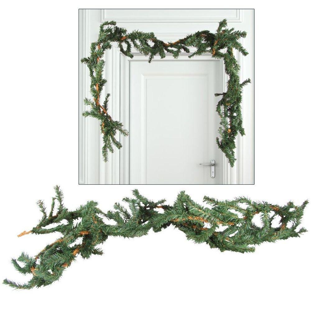Tannengirlande Weihnachtsgirlande 2x 2,7m Maibaum Weihnachtsdeko Türdekoration – Bild 2
