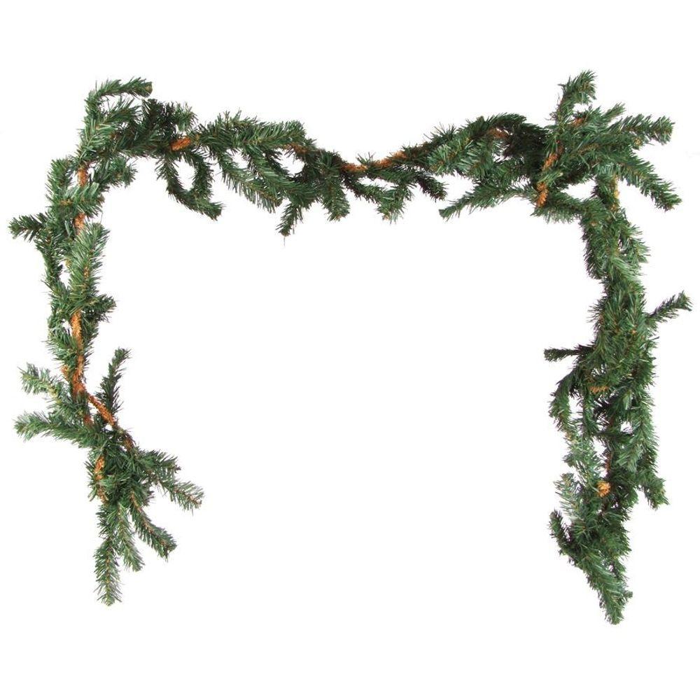 Tannengirlande Weihnachtsgirlande 2x 2,7m Maibaum Weihnachtsdeko Türdekoration – Bild 1