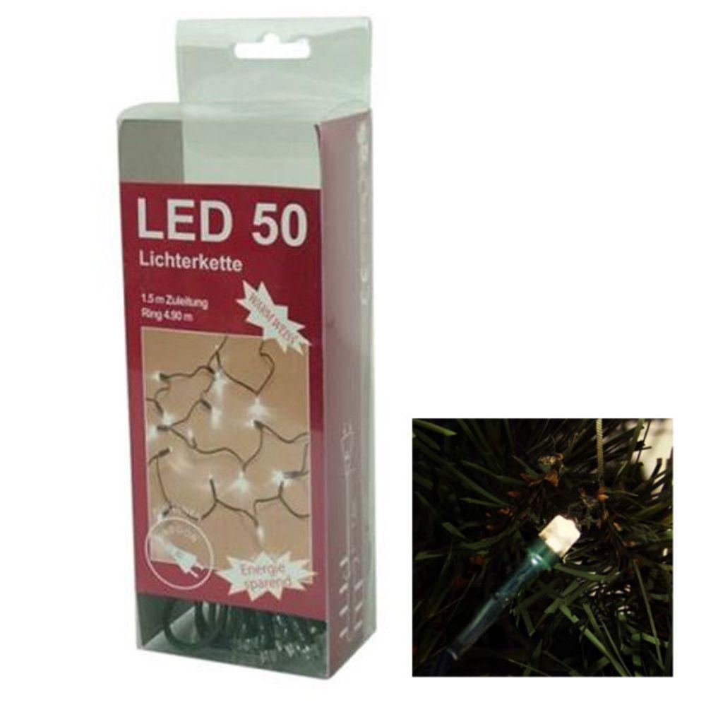 50 LED Lichterkette Weihnachtskette Weihnachtsbeleuchtung Party Dekolicht – Bild 1