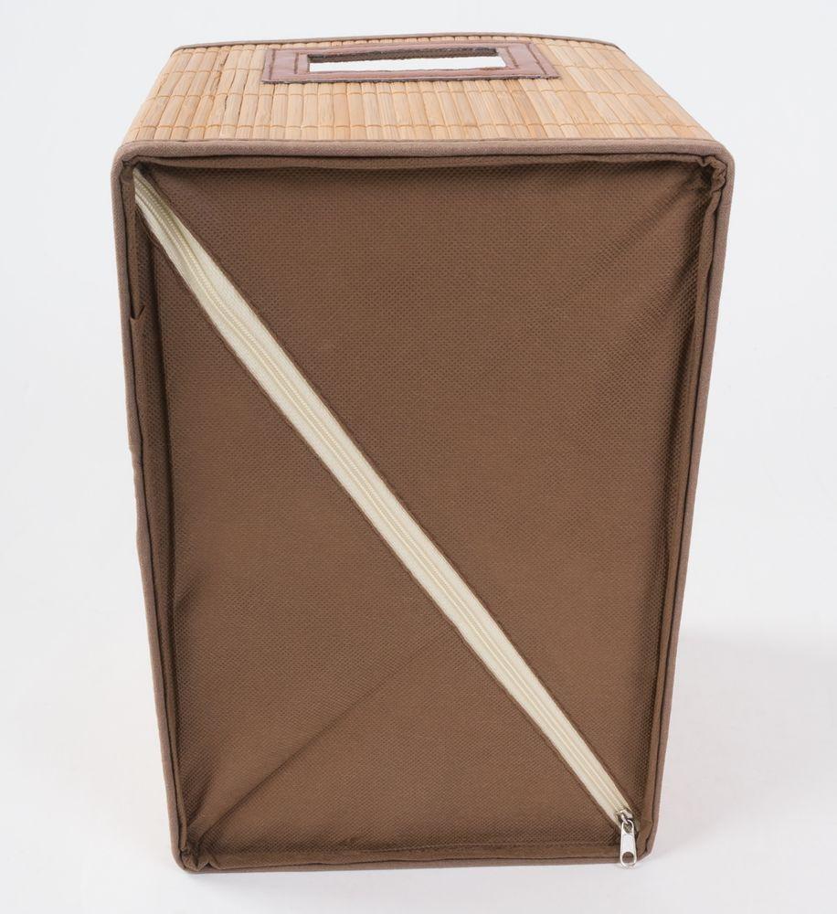 Bambus-Aufbewahrungsbox 30x20x20cm Faltbox Utensilienbox Badkorb Regalkorb Kiste – Bild 3