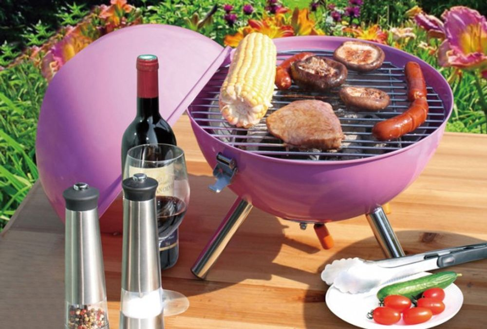 Barbecue Kugel-Tischgrill Campinggrill Picknickgrill Holzkohlegrill Standgrill – Bild 5