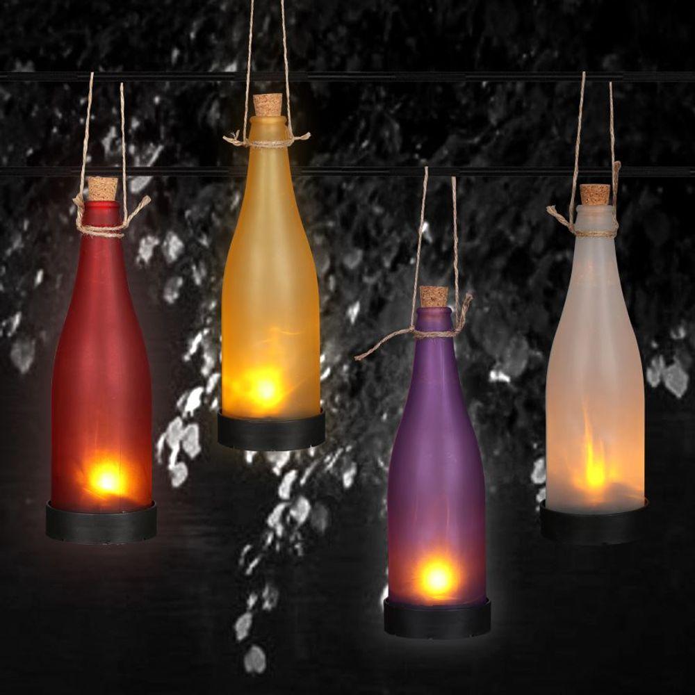 LED-Flaschenleuchte Stimmungslicht Garten-Dekolicht Solarlampe Flaschenlicht – Bild 7